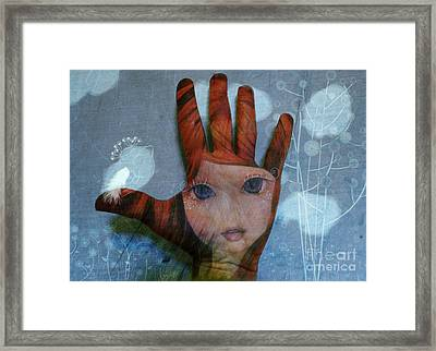 Framed Print featuring the digital art By The Pricking Of My Thumb by Barbara Orenya