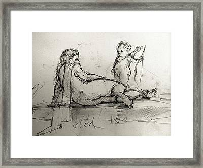 By The River Framed Print by H James Hoff