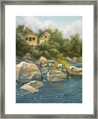 By The River Framed Print by Lucie Bilodeau