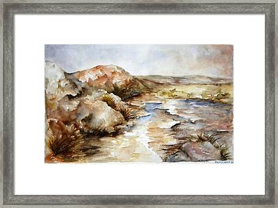 By The Road In New Mexico Framed Print