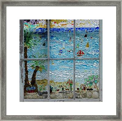 By The Sea Framed Print by Anne Marie Brown