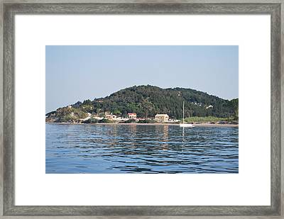 Framed Print featuring the photograph By The Sea by George Katechis