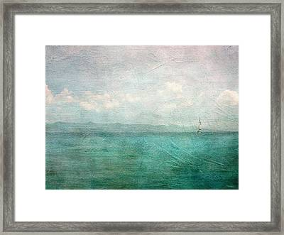 By The Sea Framed Print by Heather Green