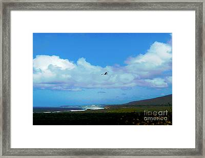 By The Sea Framed Print by Helen Xiao