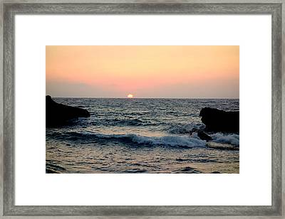 Come Down To The Sea To See The Wonder  Framed Print by Hilde Widerberg