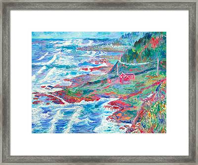 By The Sea Framed Print by Kendall Kessler