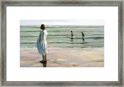 By The Sea Framed Print by Mark Van Crombrugge