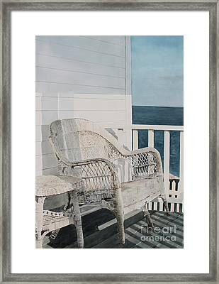 By The Sea Framed Print by Monte Toon