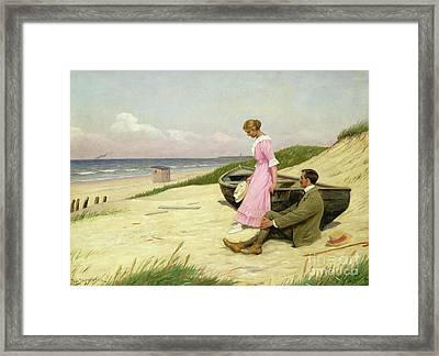 By The Sea Framed Print by Povl Steffensen