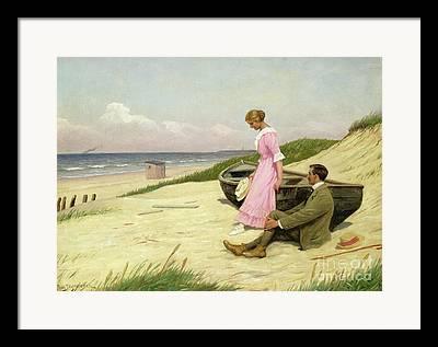 Shoreline Old Men Framed Prints