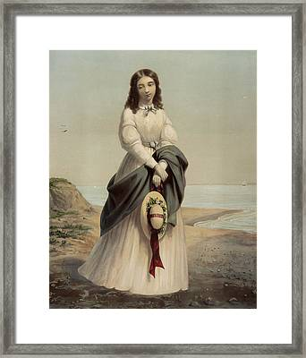 By The Sea Shore Circa 1868 Framed Print by Aged Pixel