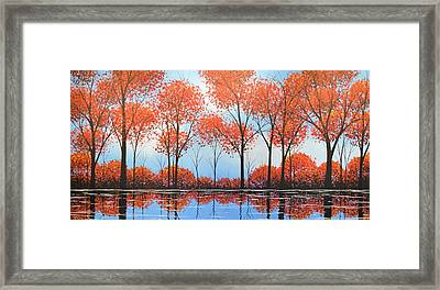 Framed Print featuring the painting By The Shore by Amy Giacomelli