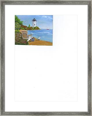 By The Shore Framed Print by Catherine Swerediuk