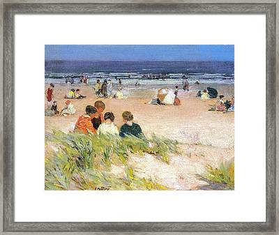 By The Shore Framed Print by Edward Potthast