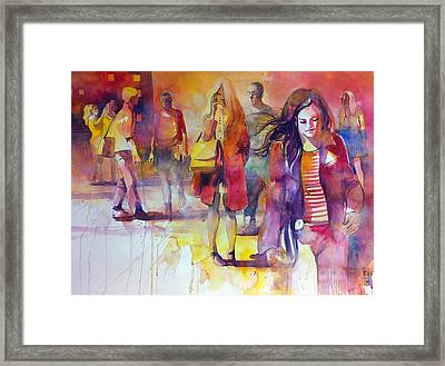 By The Street Framed Print by Alessandro Andreuccetti