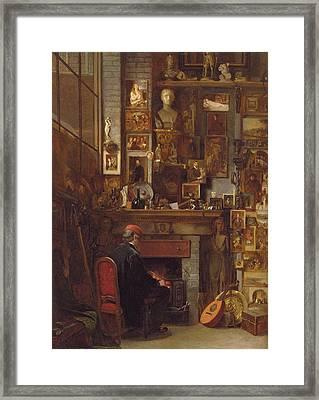 By The Studio Fire, 1860 Framed Print by John Dawson Watson