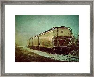 By The Tracks Framed Print by Jessica Brawley
