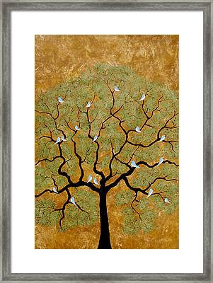 By The Tree Re-painted Framed Print