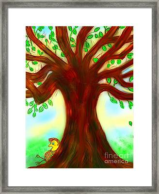 By The Tree Framed Print