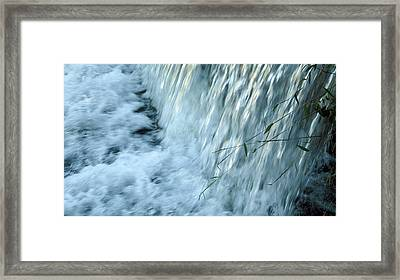 By The Weir Dam Framed Print