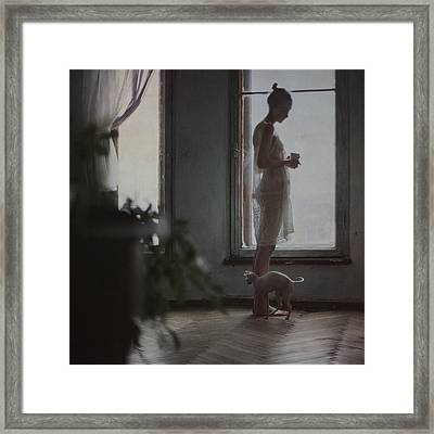 By The Window Framed Print by Anka Zhuravleva