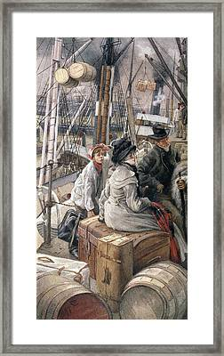 By Water Framed Print by James Jacques Joseph Tissot