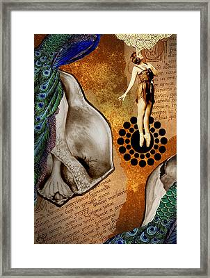 By Way Of The Peacock Framed Print by Denise R Fleming
