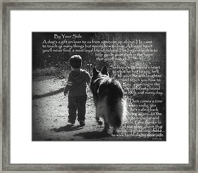 By Your Side Paw Print Framed Print