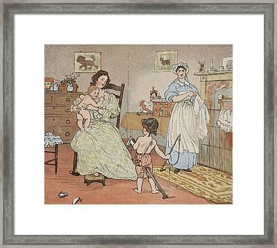 Bye Baby Bunting Framed Print by Rnadolph Caldecott
