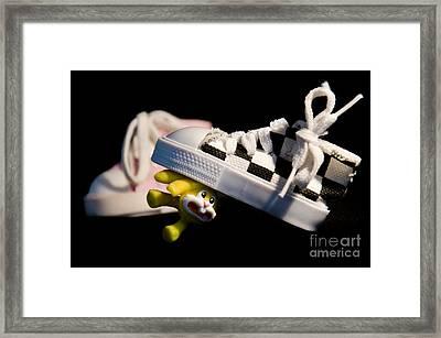 Bye Bye Bunny Framed Print by Victoria Herrera
