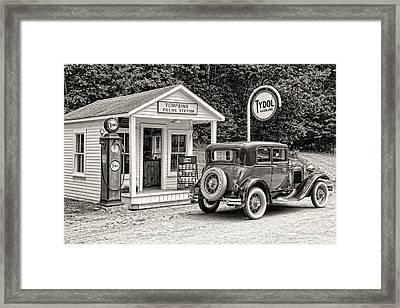 Bygone Days Framed Print by Brenda Hackett