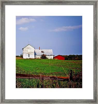 Bygone Farmstead Framed Print