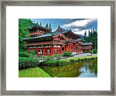Byodo-in Temple #0026 Framed Print