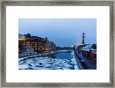 Bypass Canal Of Moscow River - Featured 3 Framed Print