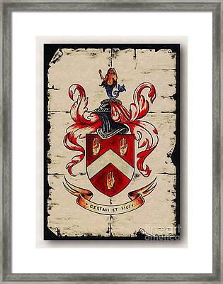 Byrne Coat Of Arms Framed Print