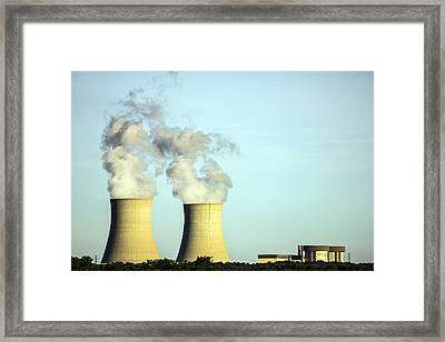 Byron Nuclear Plant Framed Print