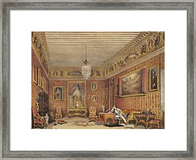 Byrons Room In Palazzo Mocenigo, Venice Framed Print by English School