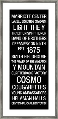 Byu College Town Wall Art Framed Print