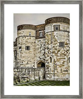 Byward Tower Framed Print by Heather Applegate