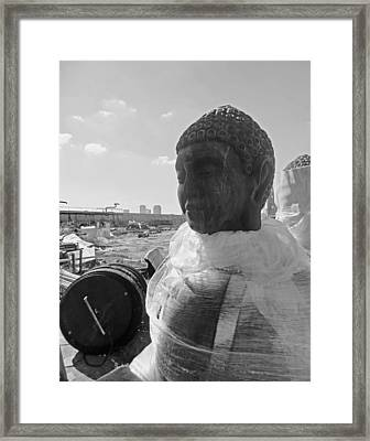 Bywater Buddha In New Orleans Framed Print