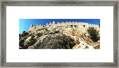 Byzantine Castle Of Kalekoy, Antalya Framed Print
