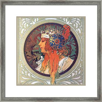 Byzantine Head The Blonde Framed Print by Philip Ralley