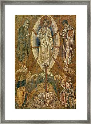 Byzantine Icon Depicting The Transfiguration Framed Print by Byzantine School