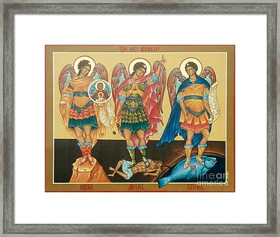 Byzantine Icon Framed Print by Archangelus Gallery