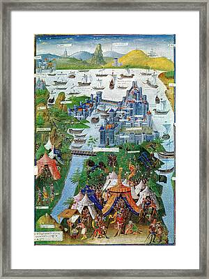 Byzantine-ottoman Wars, Constantinople Framed Print