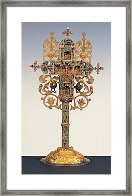 Byzantine Work, Benedictory Cross, 16th Framed Print by Everett