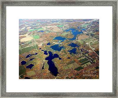 C-020 Chain O Lakes Waupaca Wisconsin Fall Framed Print by Bill Lang