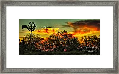 Wildfire C-130  Framed Print by Robert Frederick