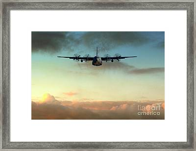 C-130e Inbound Framed Print by J Biggadike