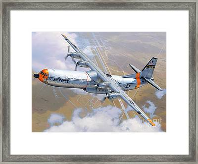 C-133 Cargomaster Over Travis Framed Print by Stu Shepherd